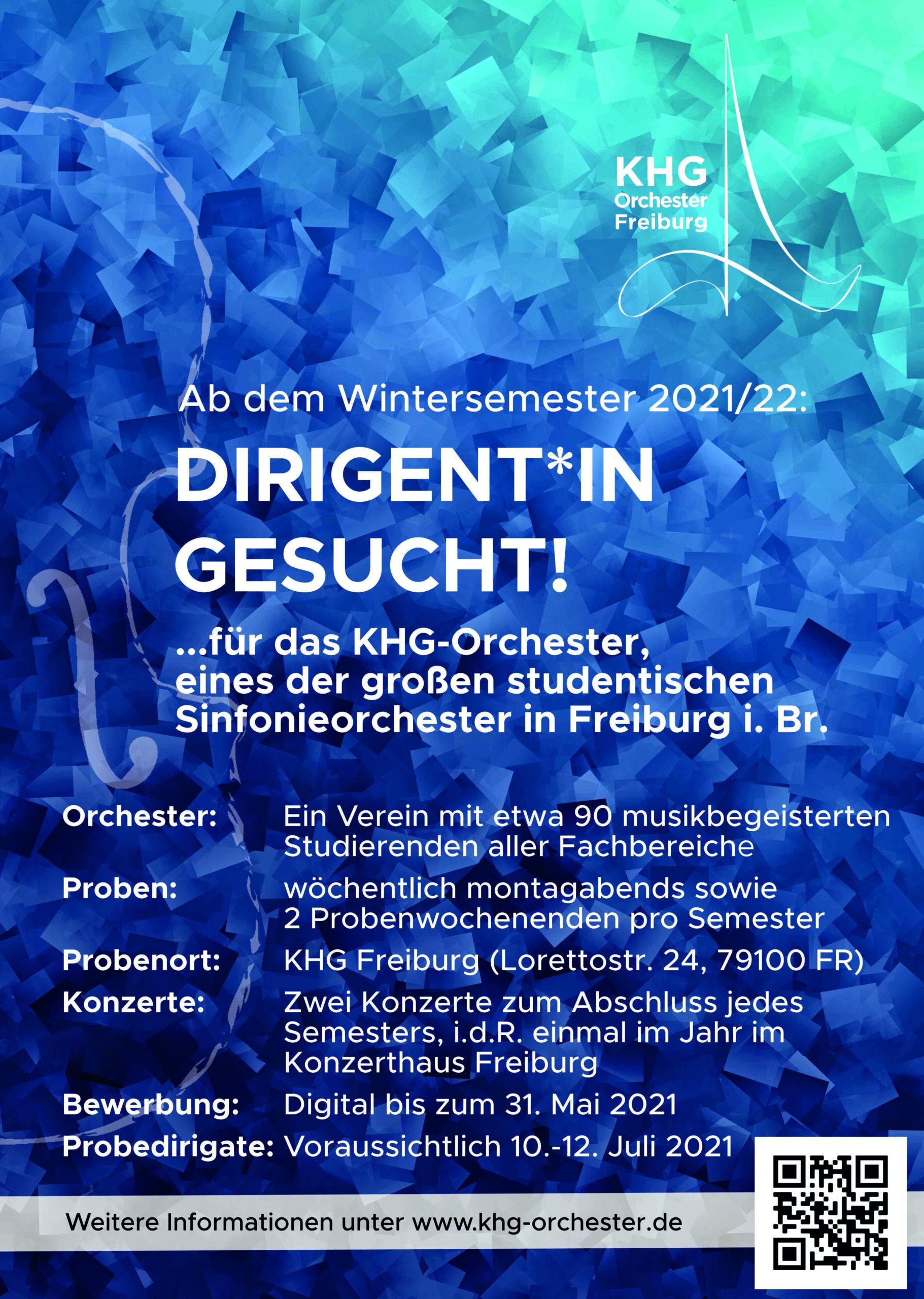 Plakat Dirigatsausschreibung